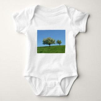 apple trees baby bodysuit