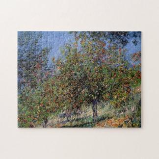 Apple Trees Chantemesle Hill Monet Fine Art Jigsaw Puzzle