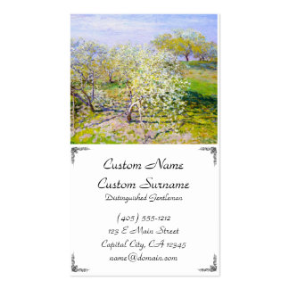 Apple Trees in Bloom, 1873 Claude Monet Business Card