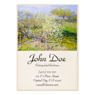 Apple Trees in Bloom, 1873 Claude Monet Large Business Card