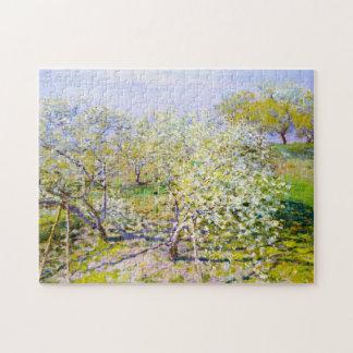 Apple Trees in Bloom, 1873 Claude Monet Puzzle