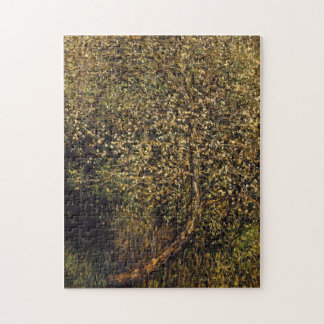 Apple Trees in Blossom by Water Monet Fine Art Jigsaw Puzzle