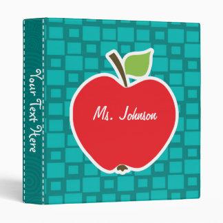 Apple; Turquoise Squares; Retro Binder