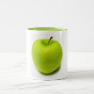 Apple verde ahueca taza de dos tonos
