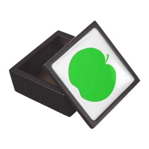 Apple verde cajas de joyas de calidad