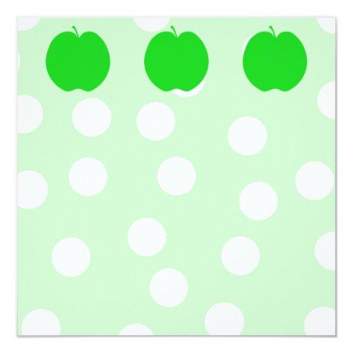 """Apple verde con el fondo manchado invitación 5.25"""" x 5.25"""""""