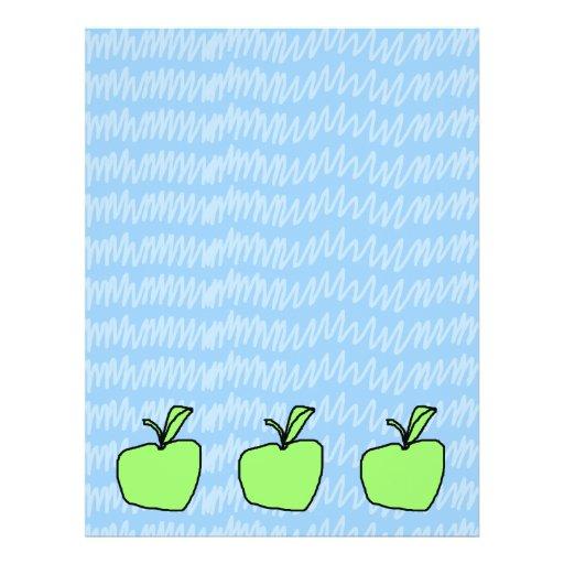 Apple verde con el fondo modelado tarjetas publicitarias