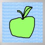 Apple verde con el fondo modelado posters