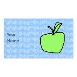 Apple verde con el fondo modelado tarjetas de visita