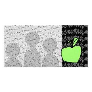 Apple verde con el fondo modelado tarjeta personal