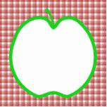 Apple verde con el modelo rojo y blanco del contro esculturas fotograficas