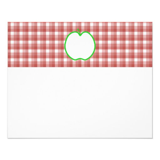 """Apple verde con el modelo rojo y blanco del contro folleto 4.5"""" x 5.6"""""""