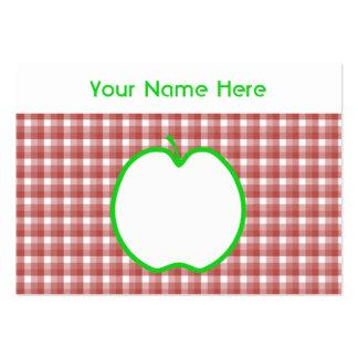 Apple verde con el modelo rojo y blanco del tarjetas de visita grandes