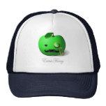 """Apple verde """"de lujo"""" adicional con el bigote y el gorra"""