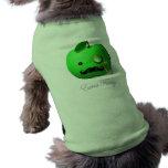 """Apple verde """"de lujo"""" adicional con el bigote y el camiseta de perrito"""
