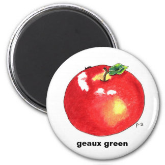 Apple, verde del geaux imán redondo 5 cm