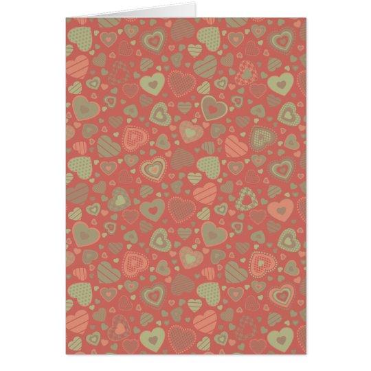 Apple verde encanta - corazones minúsculos tarjeta de felicitación