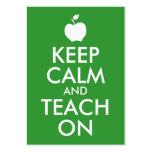 Apple verde guarda calma y la enseña encendido plantillas de tarjeta de negocio