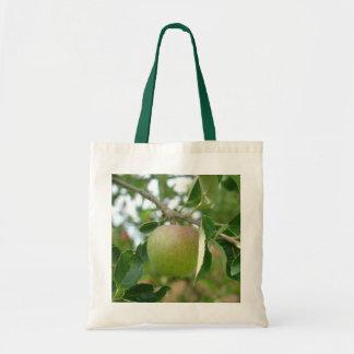 Apple verde jugoso bolsa tela barata