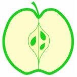 Apple verde medio escultura fotografica