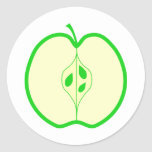 Apple verde medio pegatinas redondas