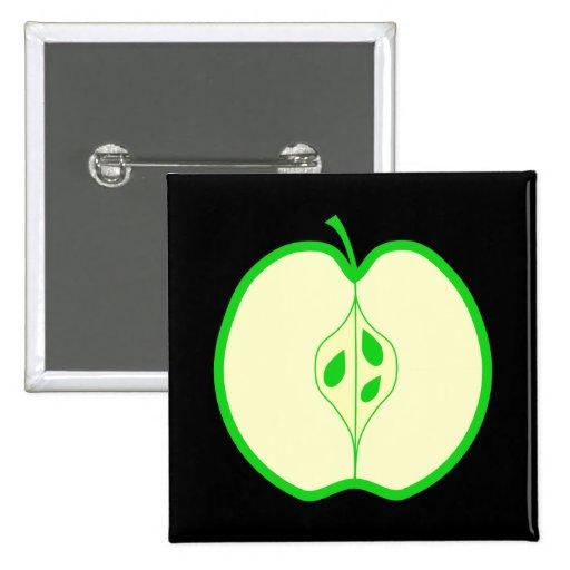 Apple verde medio pin