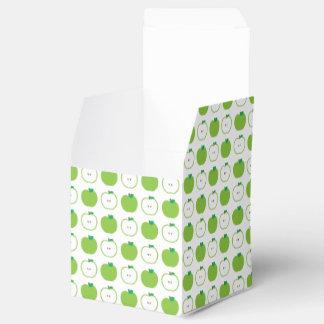 Apple verde modela la caja del favor cajas para detalles de boda