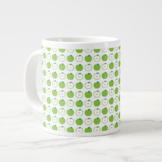 Apple verde modela la taza enorme taza grande
