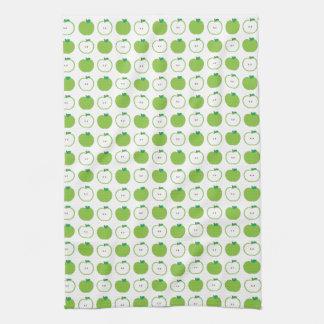 Apple verde modela la toalla de cocina