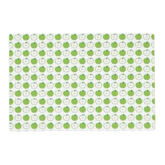Apple verde modela Placemat laminado Tapete Individual