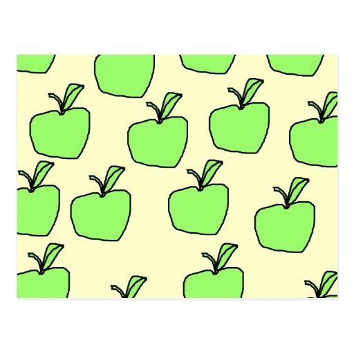 Apple verde modela postal