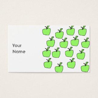 Apple verde modela tarjetas de visita