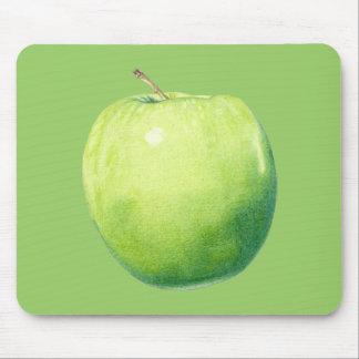 Apple verde Mousepad Tapetes De Raton