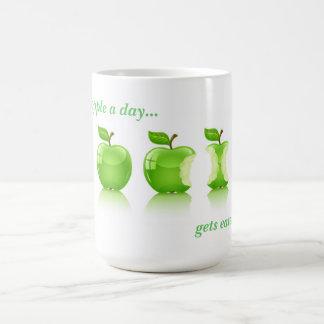 Apple verde para la vida taza básica blanca