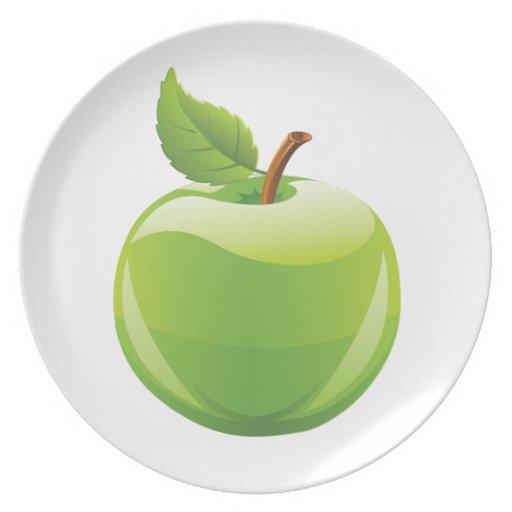 Apple verde plato