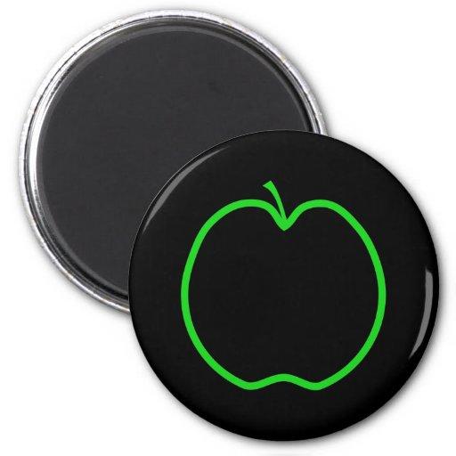 Apple verde resume imanes para frigoríficos