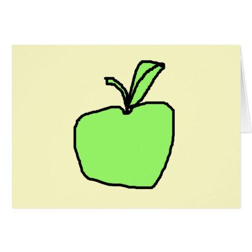 Apple verde tarjeta de felicitación