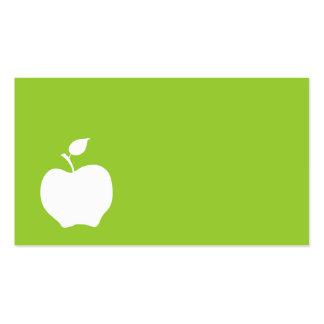 Apple verde y blanco tarjetas de visita