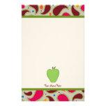 Apple verde y profesor personalizado Paisley Papeleria De Diseño