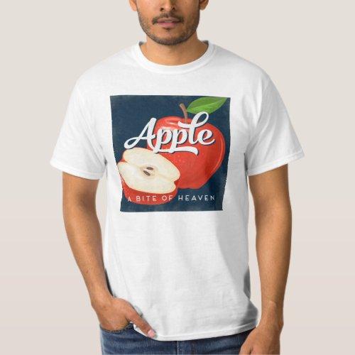 Apple Vintage Fruit Label Retro