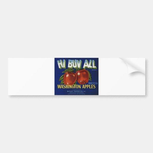 Apple Vintage Old Retro Crate Product Goods Labels Car Bumper Sticker