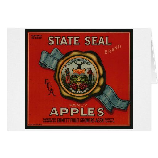 Apple Vintage Old Retro Crate Product Goods Labels Card