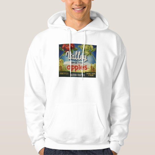 Apple Vintage Old Retro Crate Product Goods Labels Hoodie