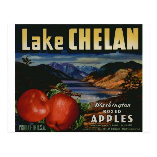 Apple Vintage Old Retro Crate Product Goods Labels Postcard