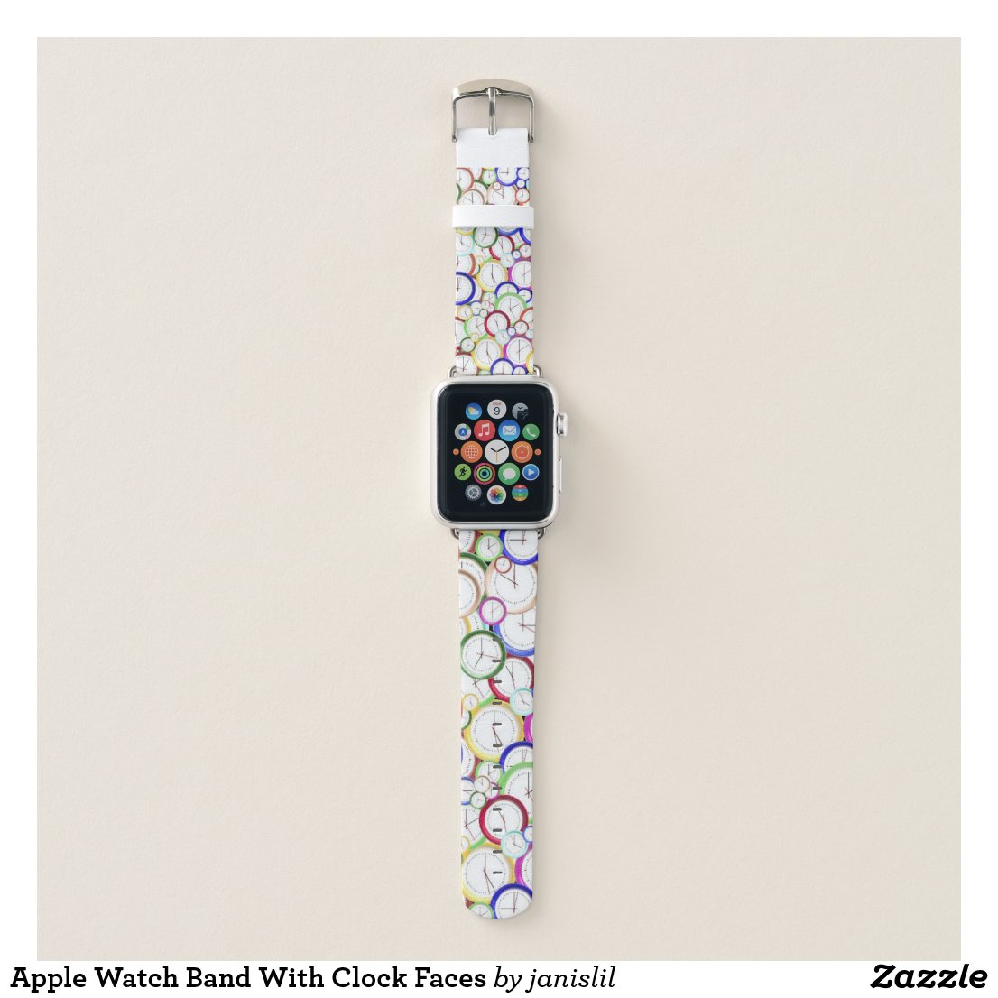 Apple Watch Band With Clock Faces