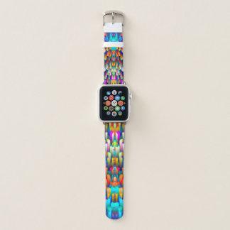 Apple Watch Bands Colorful digital art splashing