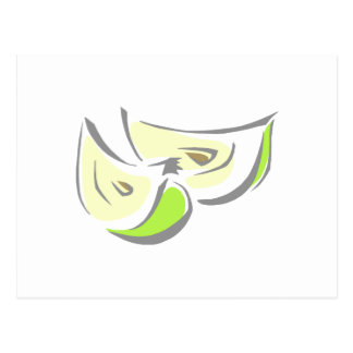 Apple Wedges Postcard