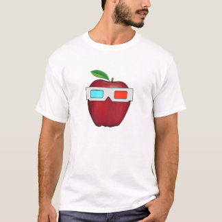 Apple with 3D Glasses T-Shirt