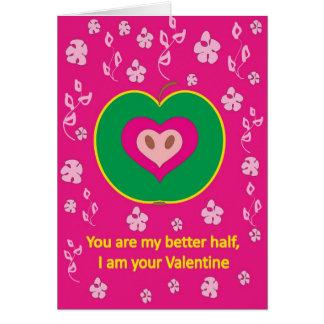 Apple with Love Heart Card