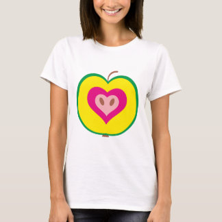 Apple with love heart T-Shirt